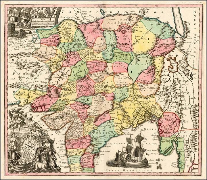 Rare books society of india rare map imperii magni mogolis sive indici padschach juxta recentissimas navigationes accurrata delineatio map maker mathaus seutter gumiabroncs Image collections